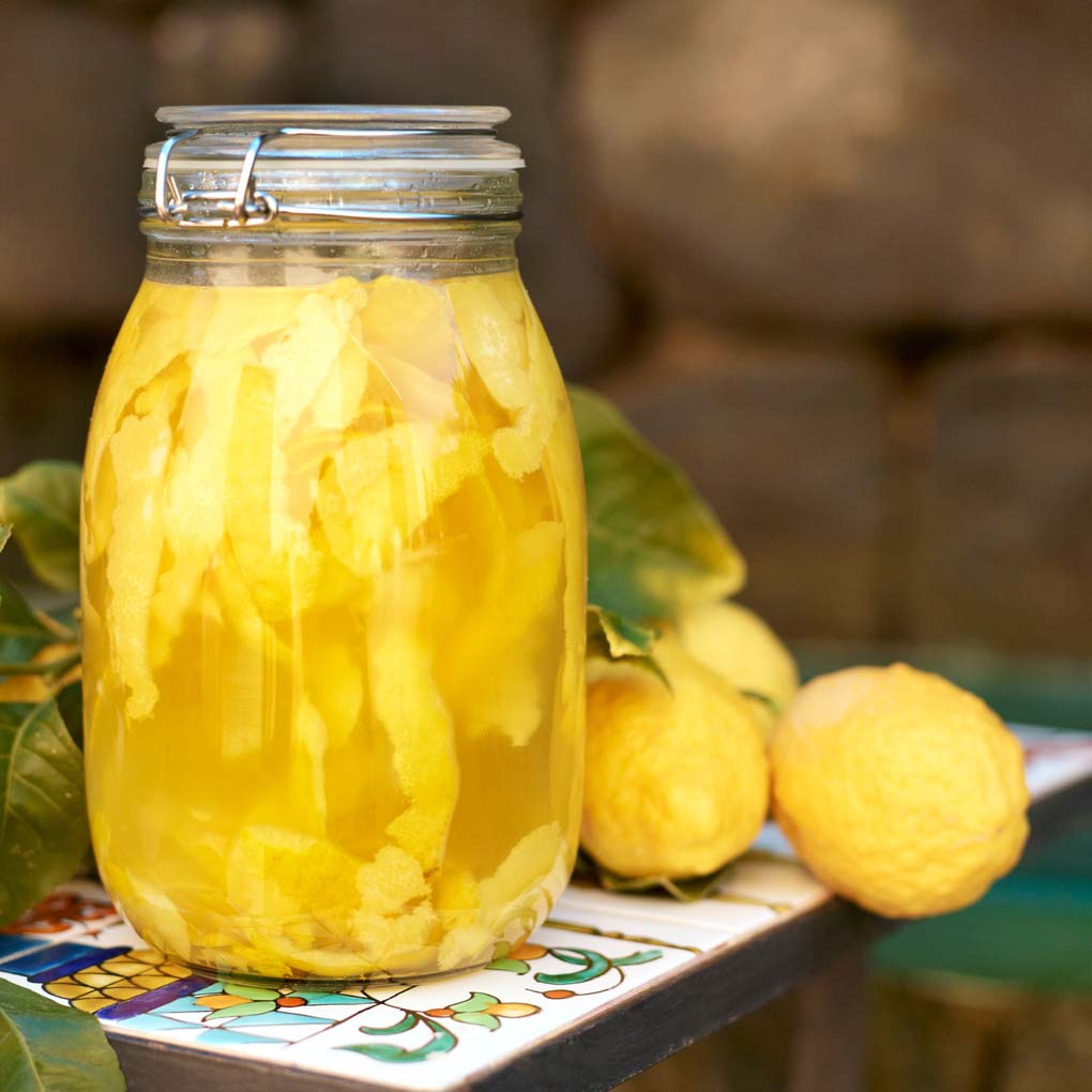 Limoncello in Jar